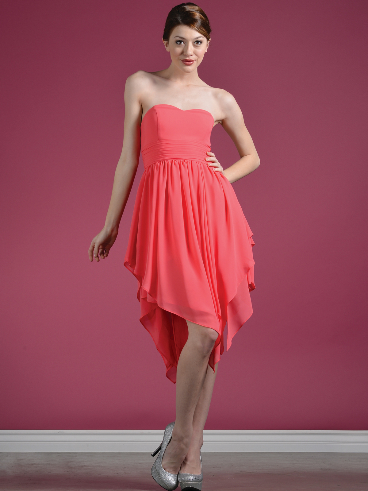 Coral_Layered_Cocktail_Dress