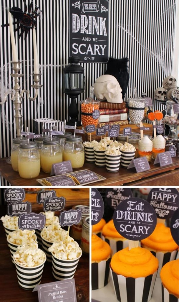 Eat, Drink, & Be Scary Halloween Party with Lots of Really Cute Ideas via