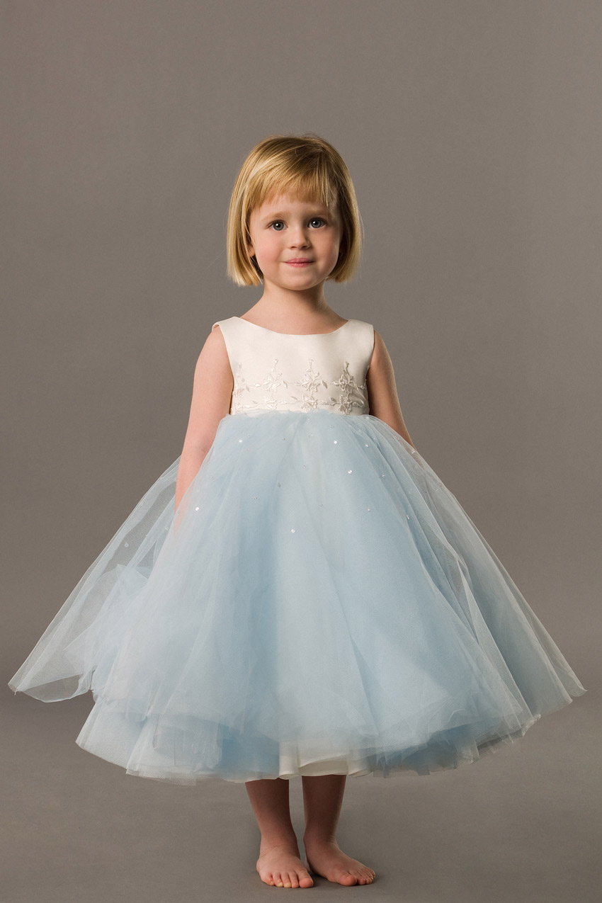 Pretty-Ball-gown-Scoop-tea-length-Little-Girl-Pageant-Dresses-
