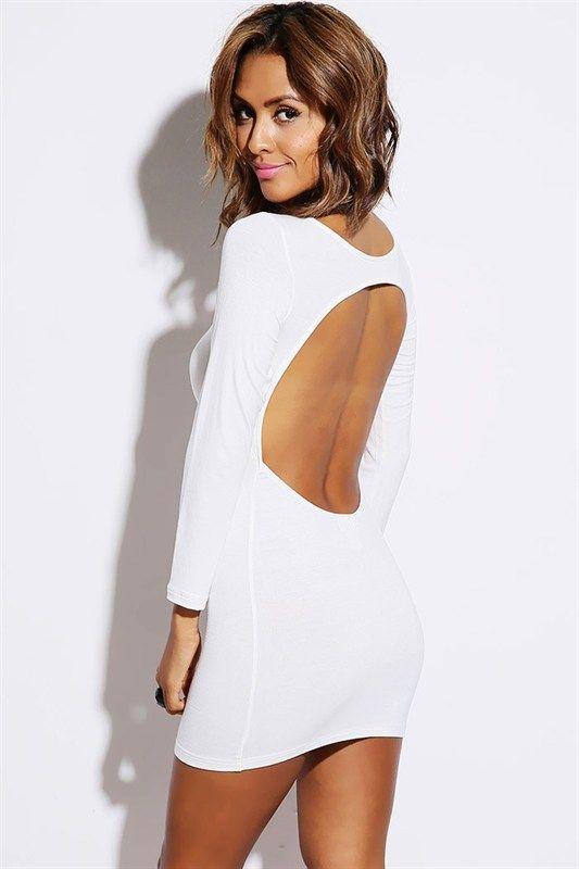 WHITE OPEN BODYCON DRESS