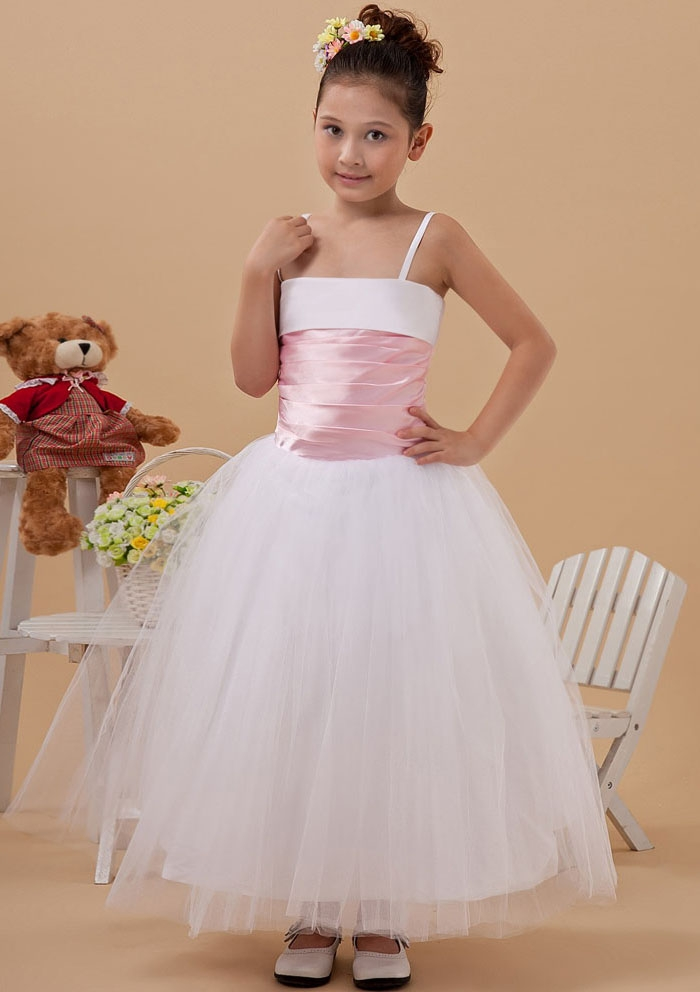 custom-made-a-line-spaghetti-straps-floor-length-white-organza-flower-girl-dresses-with-pink-belt