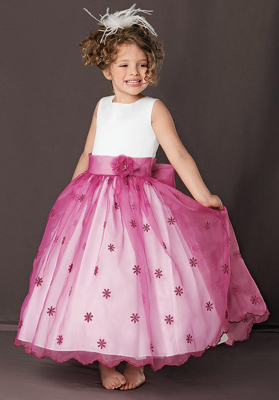 funky ankle length flower girl dress