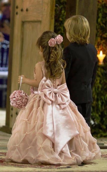 pretty blush flower girl dress