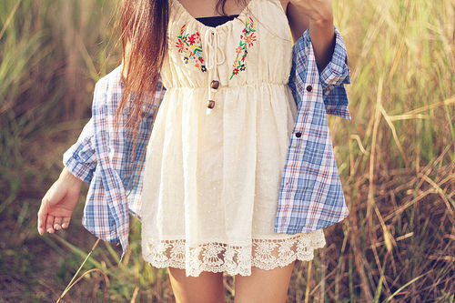 summer dress with a shirt