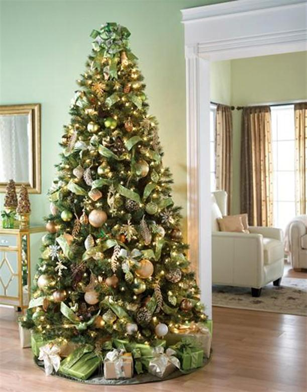 Mesmerizing golden christmas tree decoration for Decoration xmas ideas