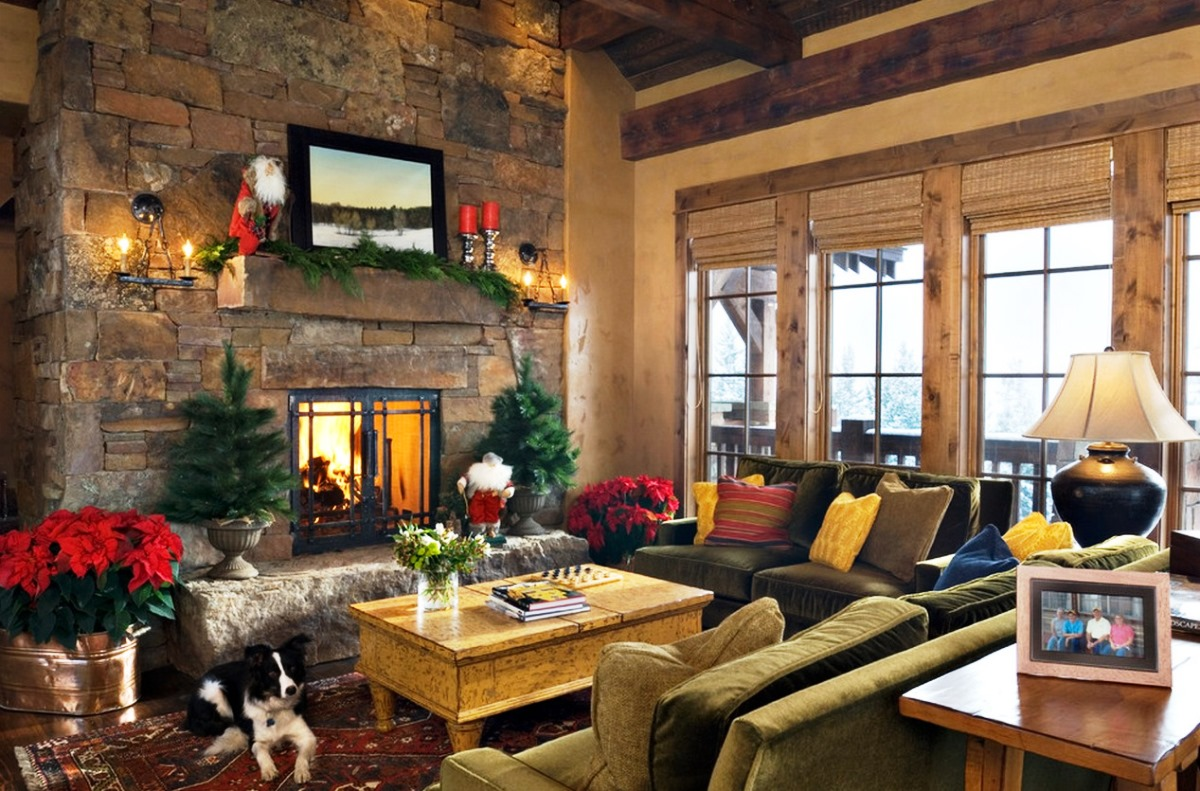 Cozy decoration ideas for your living rooms for Room decor for christmas