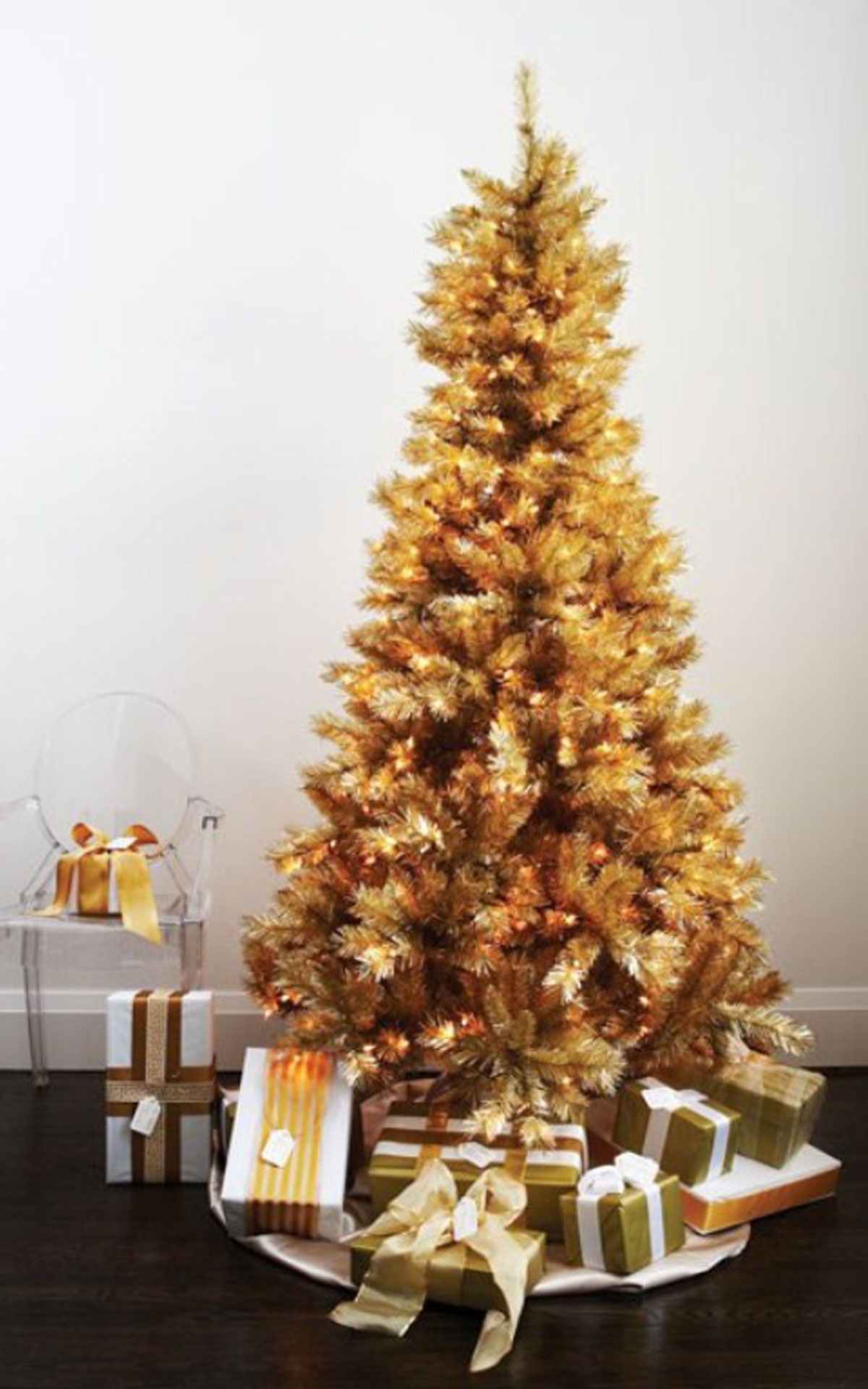 Luxurious Christmas Tree Decorating Ideas For School Decor MESMERIZING GOLDEN CHRISTMAS TREE DECORATION Godfather Style