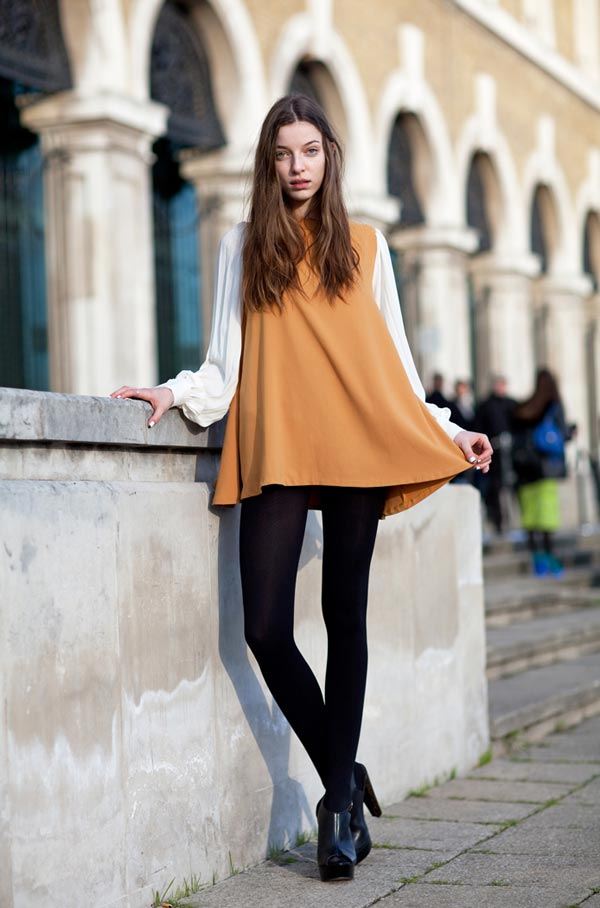Bold Black Tights Goes With All Type Of Dresses
