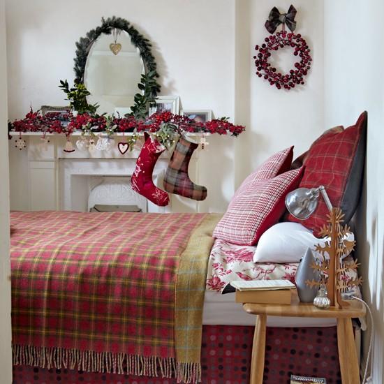 Tartan-Christmas-Bedroom-Complete-Guide-To-Christmas-Housetohome
