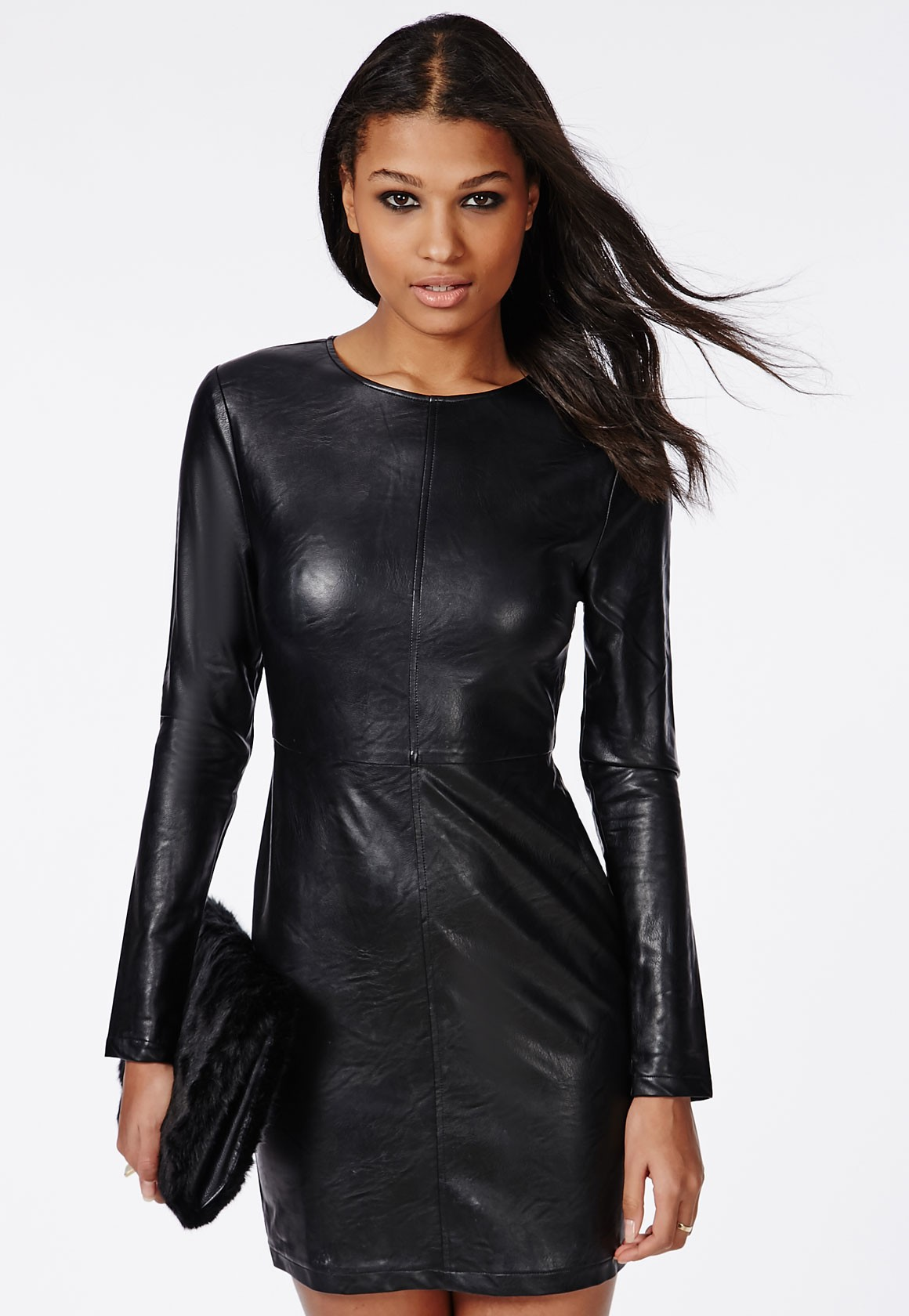 leather mini dres