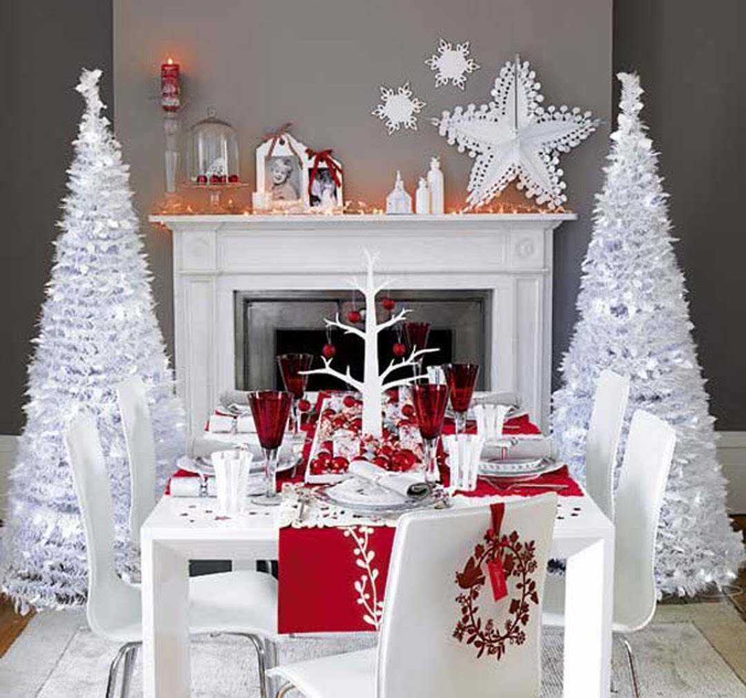 white christmas living decorations