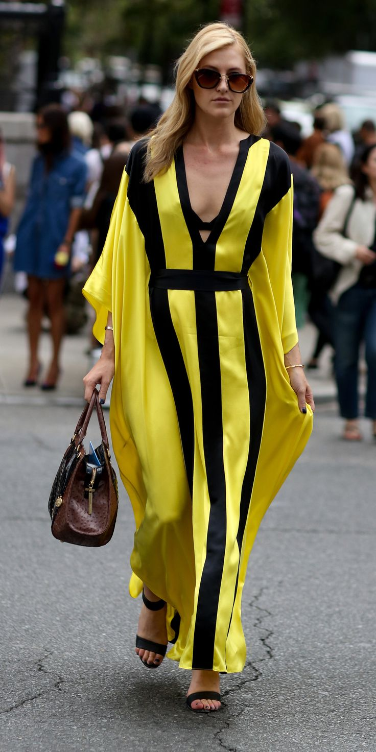 yellow caftan