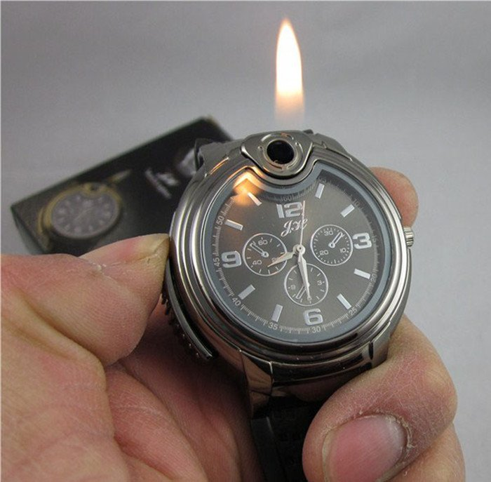 30pcs-Cool-Gas-Refillable-Lighter-Metal-Watch-Novelty-Collectible-Cigarette-Butane-Best-Christmas-Gift-For-Men.