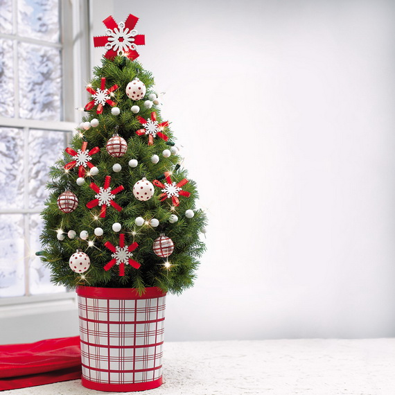 Miniature-Tabletop-Christmas-Tree-Decorating-Ideas