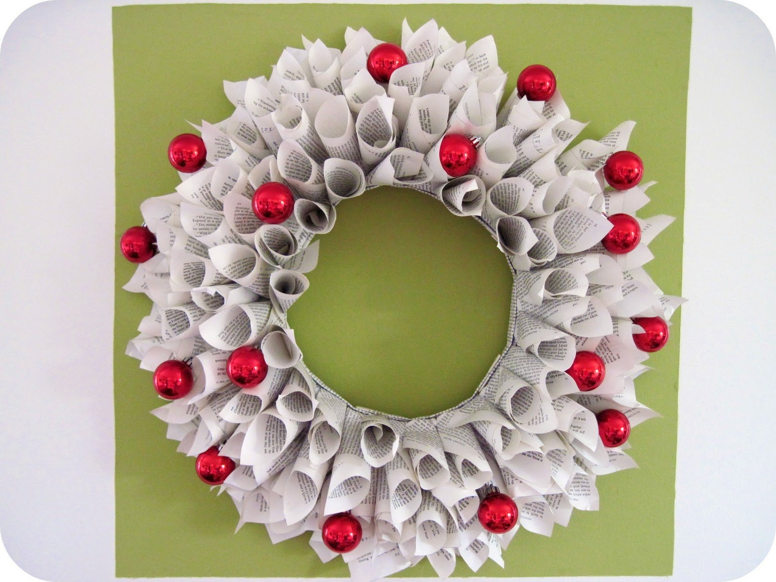 hanging wall decorations with white paper cutting art wreath crafts
