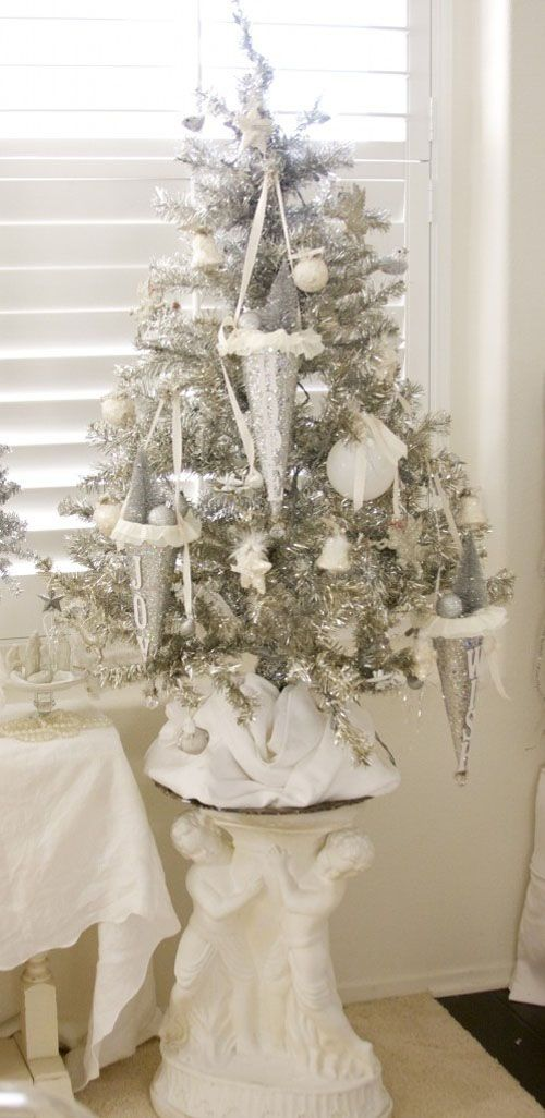 white vintage decorations