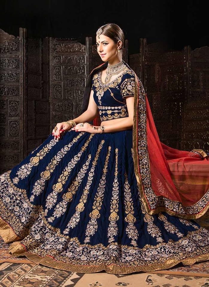 Cbazaar-Indian-Fashion-Bridal-Wear-Lehenga-Choli-Collection-2015-