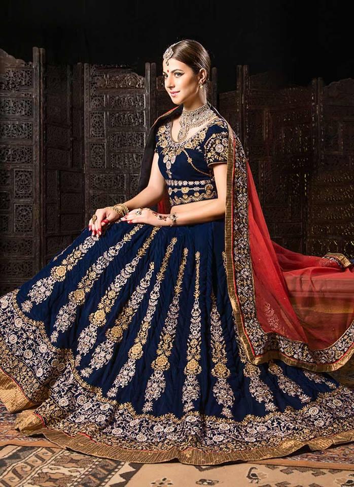 Cbazaar-Indian-Fashion-Bridal-Wear-Lehenga-Choli-Collection-2015-