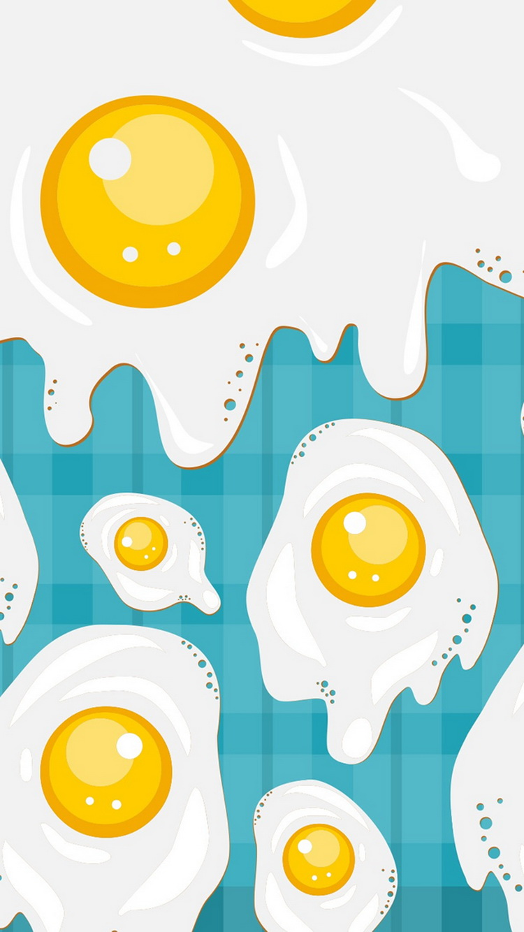 Fried-Eggs-Illustration-iPhone-6-Wallpaper