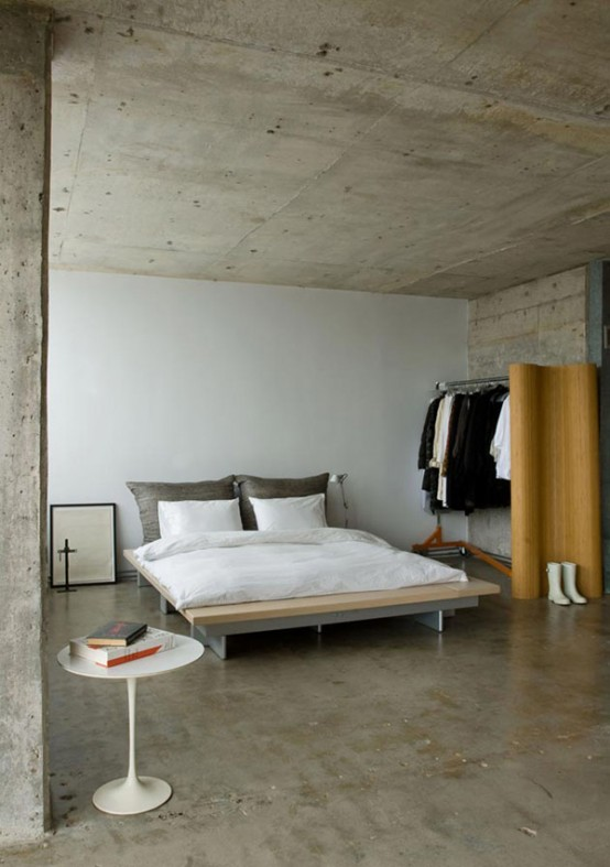 27 modern industrial bedroom design inspirations for Bedroom ideas industrial