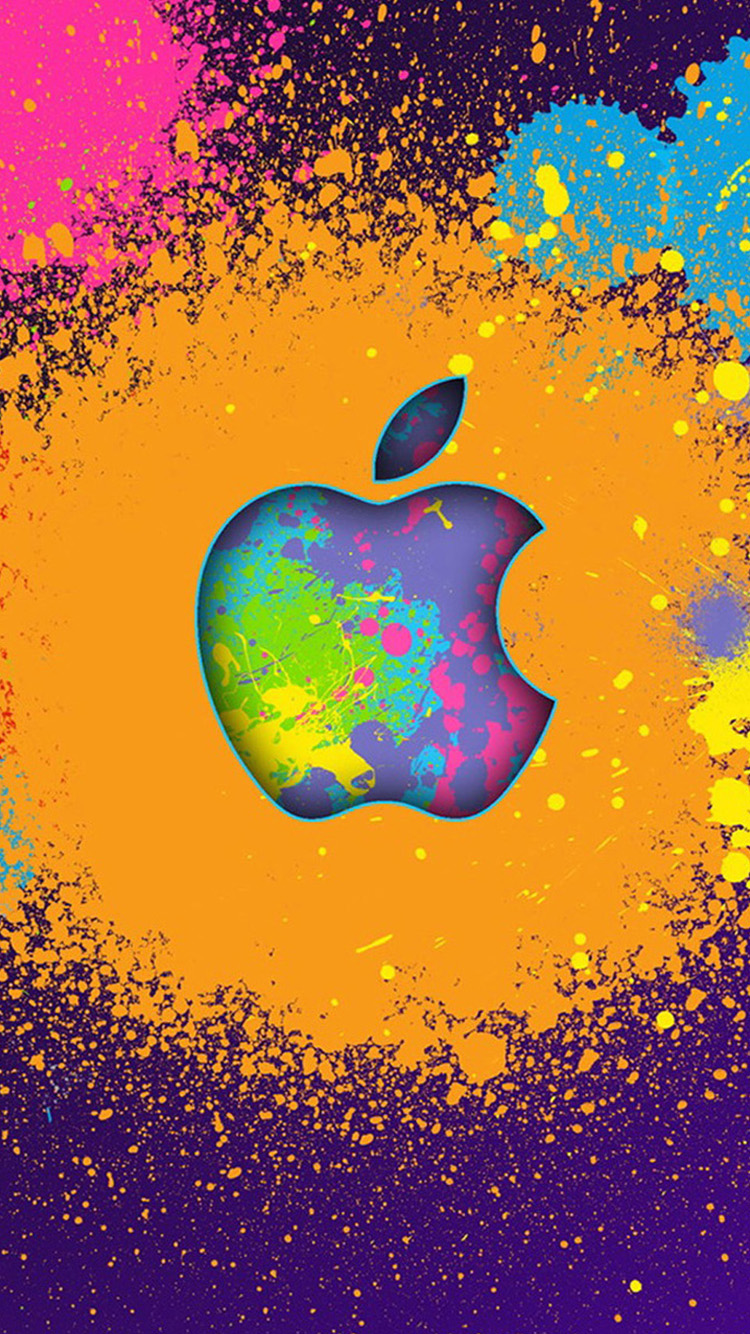 Ink Apple logo iPhone 6 Wallpapers