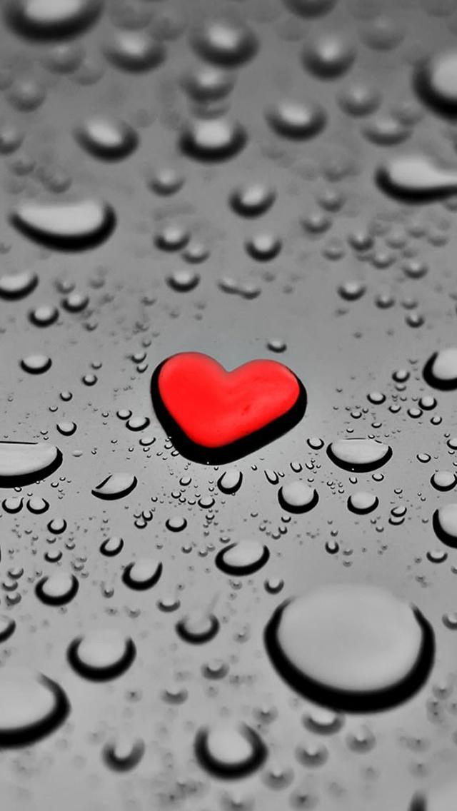 Red-Drop-Heart-iPhone-