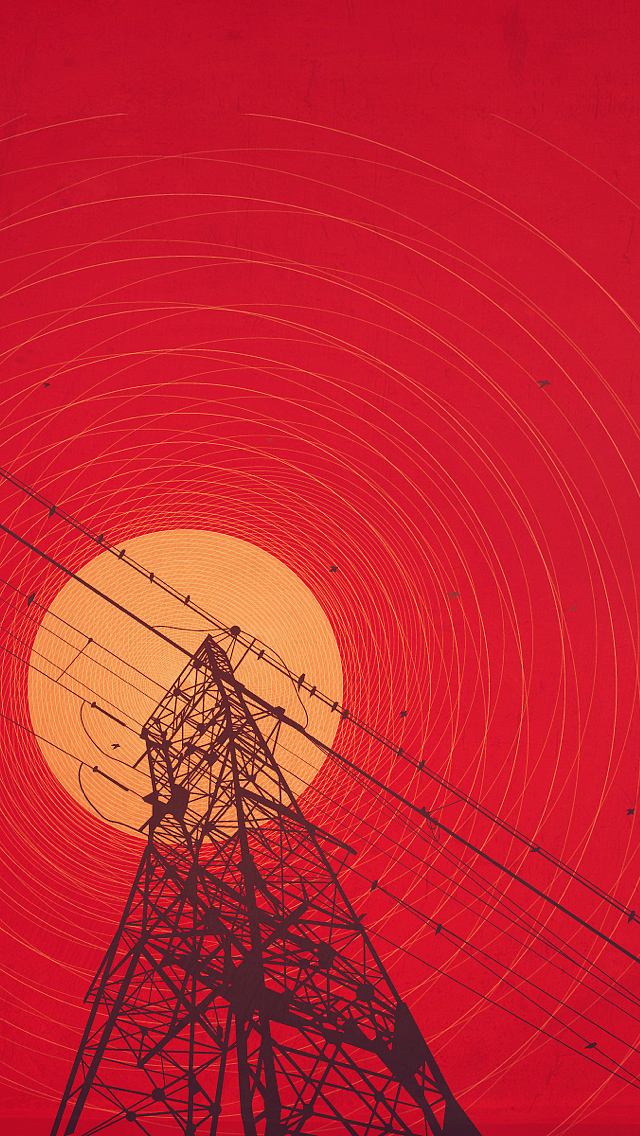 Red-sun-illustration
