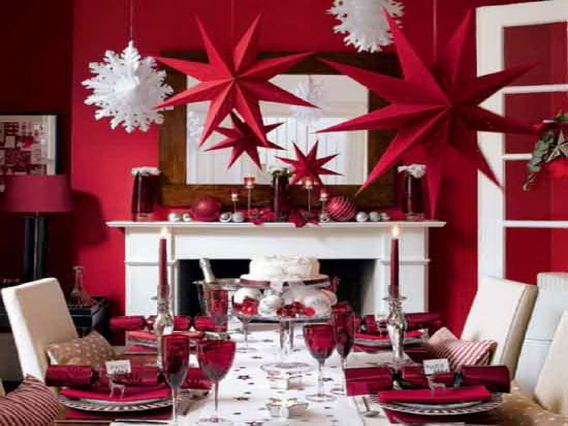 33 adorable red colour valentine decoration ideas for Red dining room decorating ideas