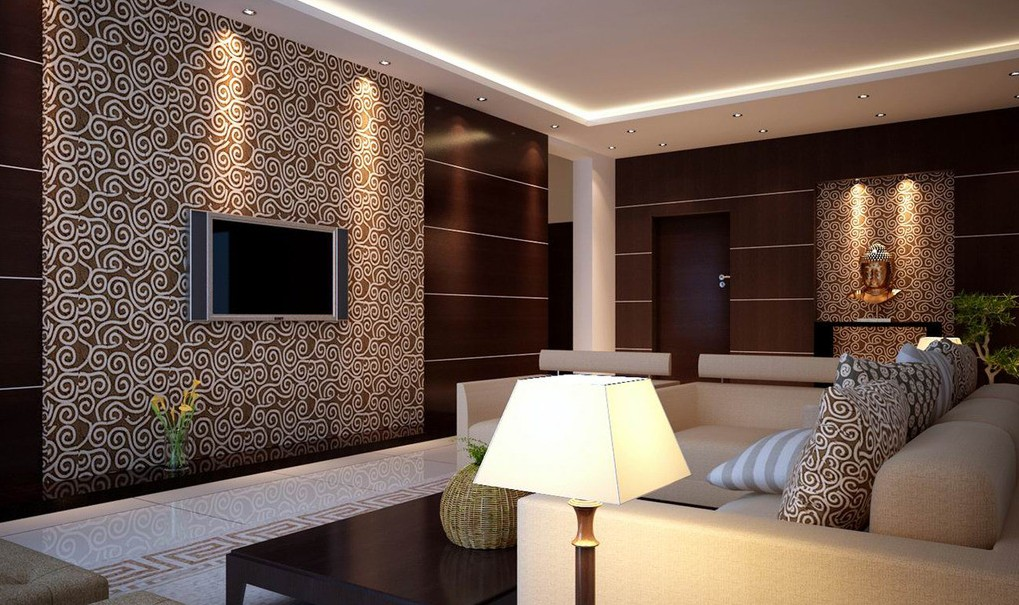 15 exclusive living room ideas for the perfect home for Wallpaper living room ideas