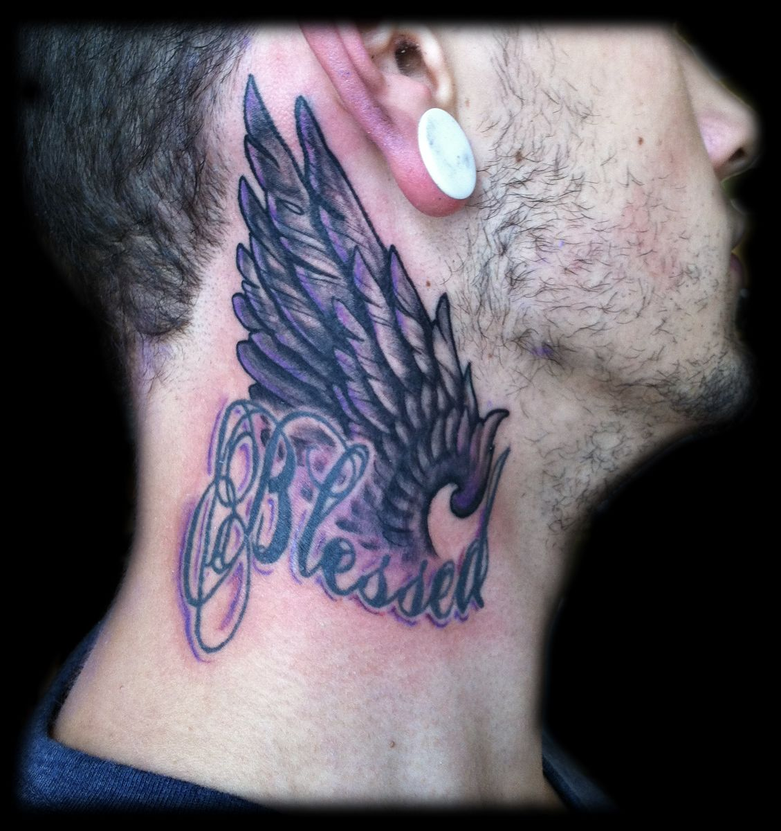 Angel-Tattoo-on-Neck.