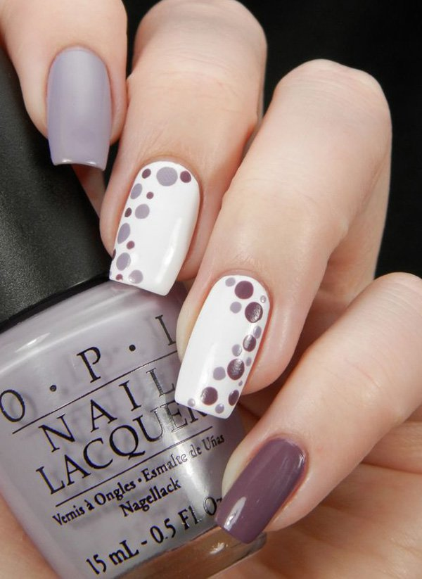Gray-with-dot-nail.