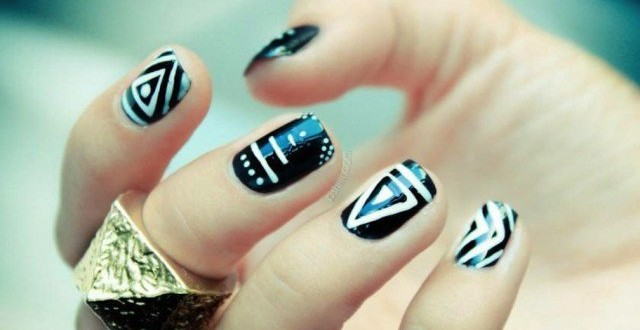 Stunning-Tribal-Nail-Designs-