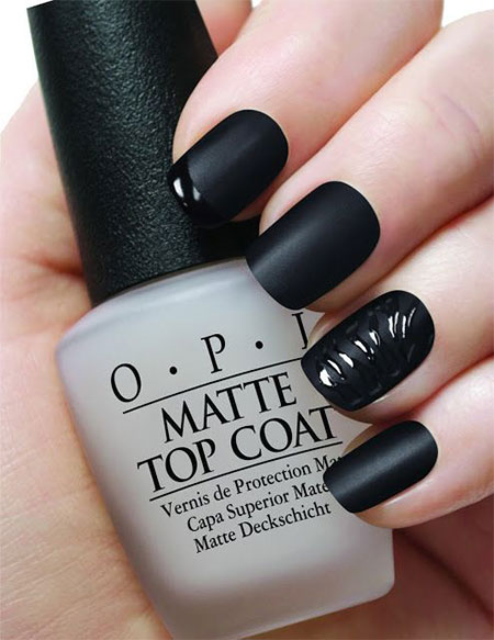 Very-Easy-Black-Nail-Art-Designs-Ideas.0