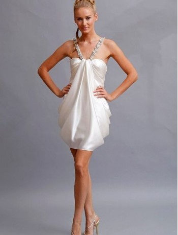 taffeta-beaded-v-shaped-strap-pick-up-mini-sheath-wedding-dresses