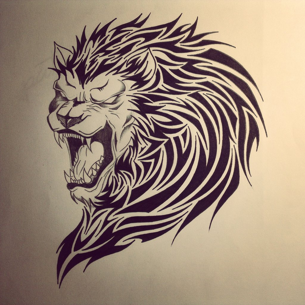 tribal-lion-tattoo-designs-images-deviantart-more-like-lion-tribal-tattoo.