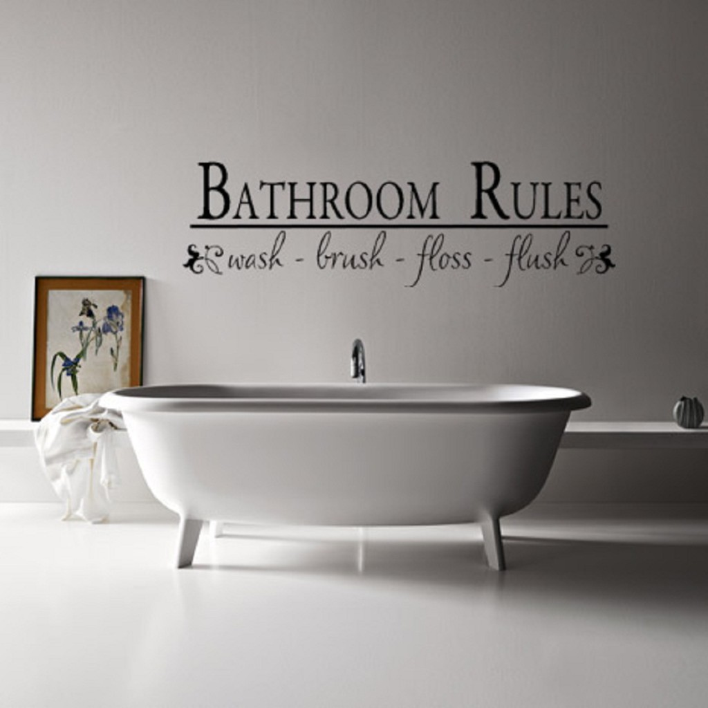 30 unique wall decor ideas godfather style for Bathroom design quotes