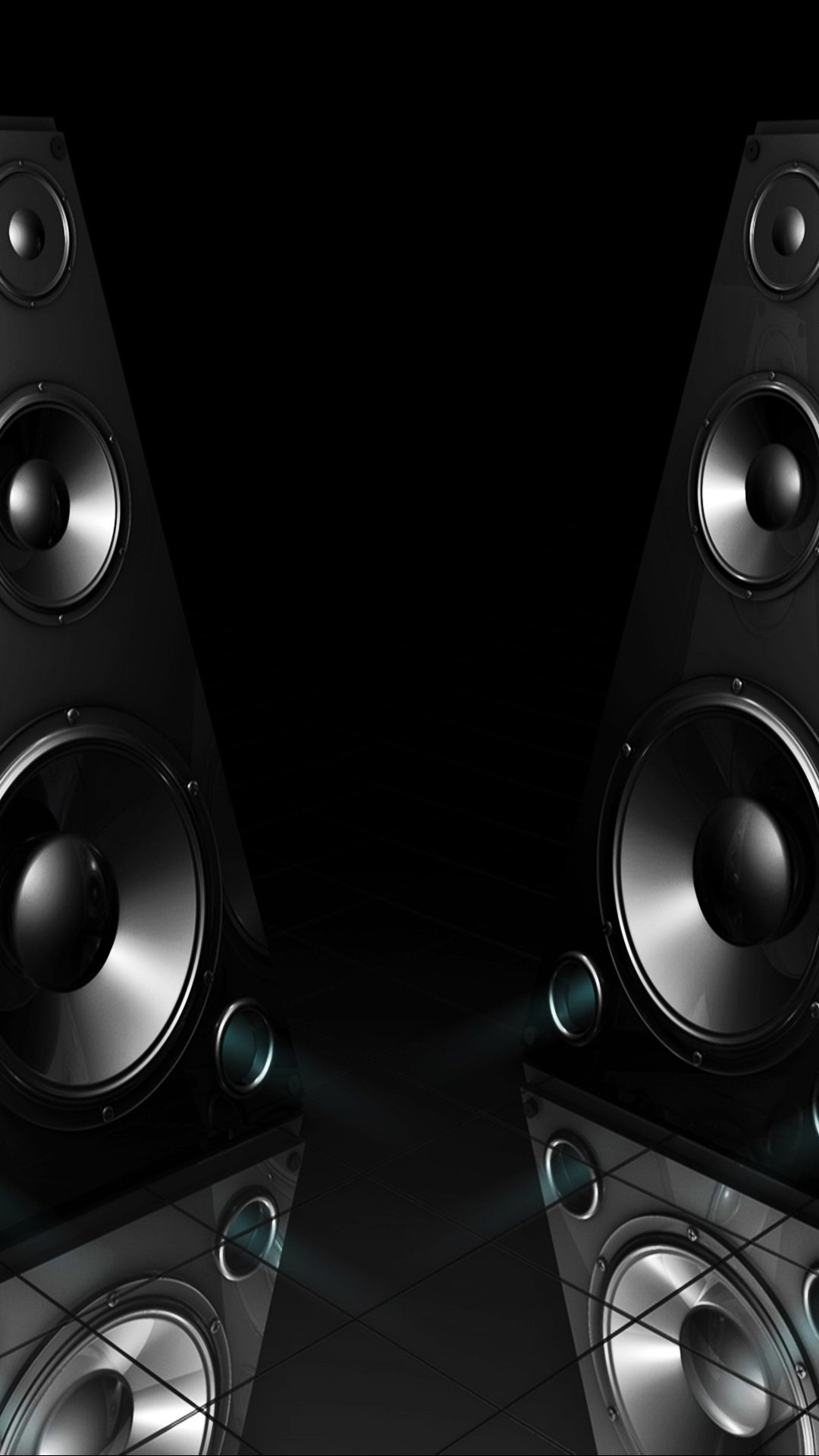 Black-Speakers-3D-iPhone-6-Plus-HD-Wallpaper.