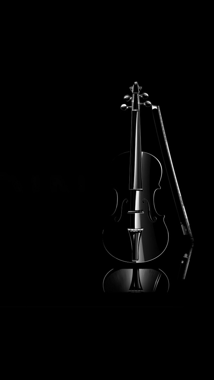 Black-Violin-Elegant-iPhone-6-Wallpaper.