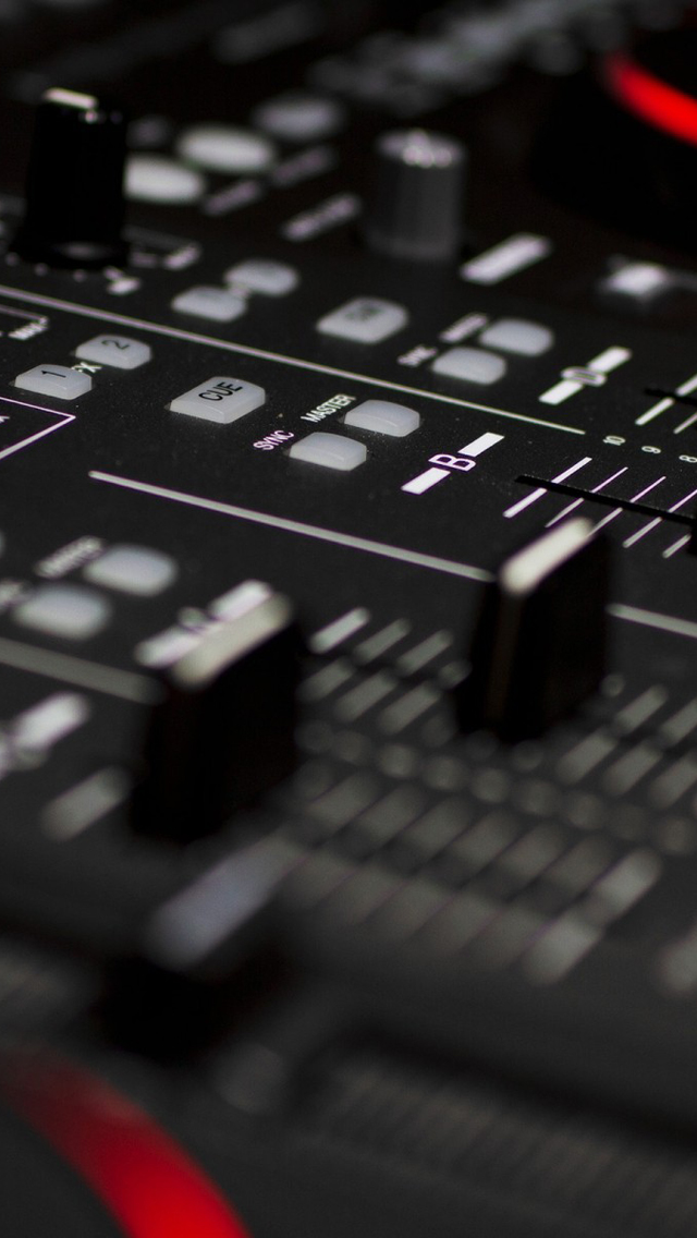 DJ-Mixer-Closeup-iPhone-5-Wallpaper.