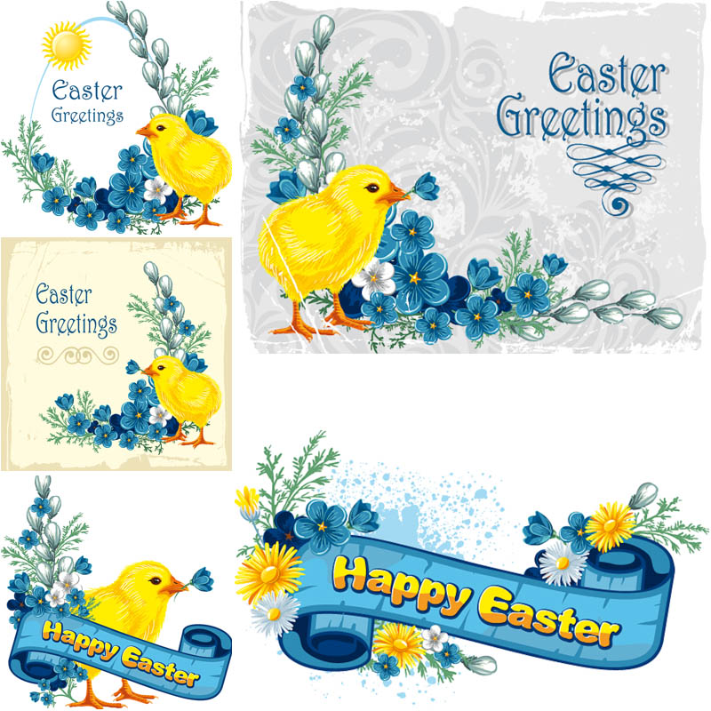 Easter-greeting-cards-with-chick-vector.