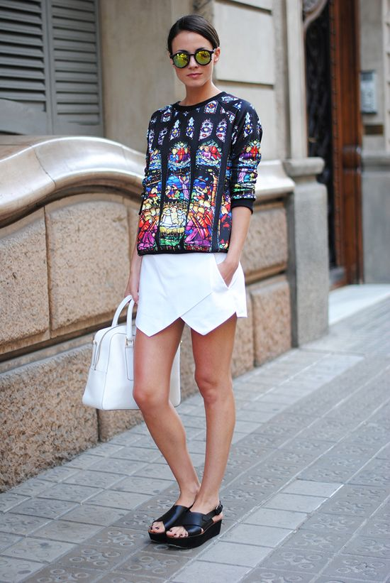 How-To-Wear-Skorts-Street-Style-Inspiration-Ideas-3