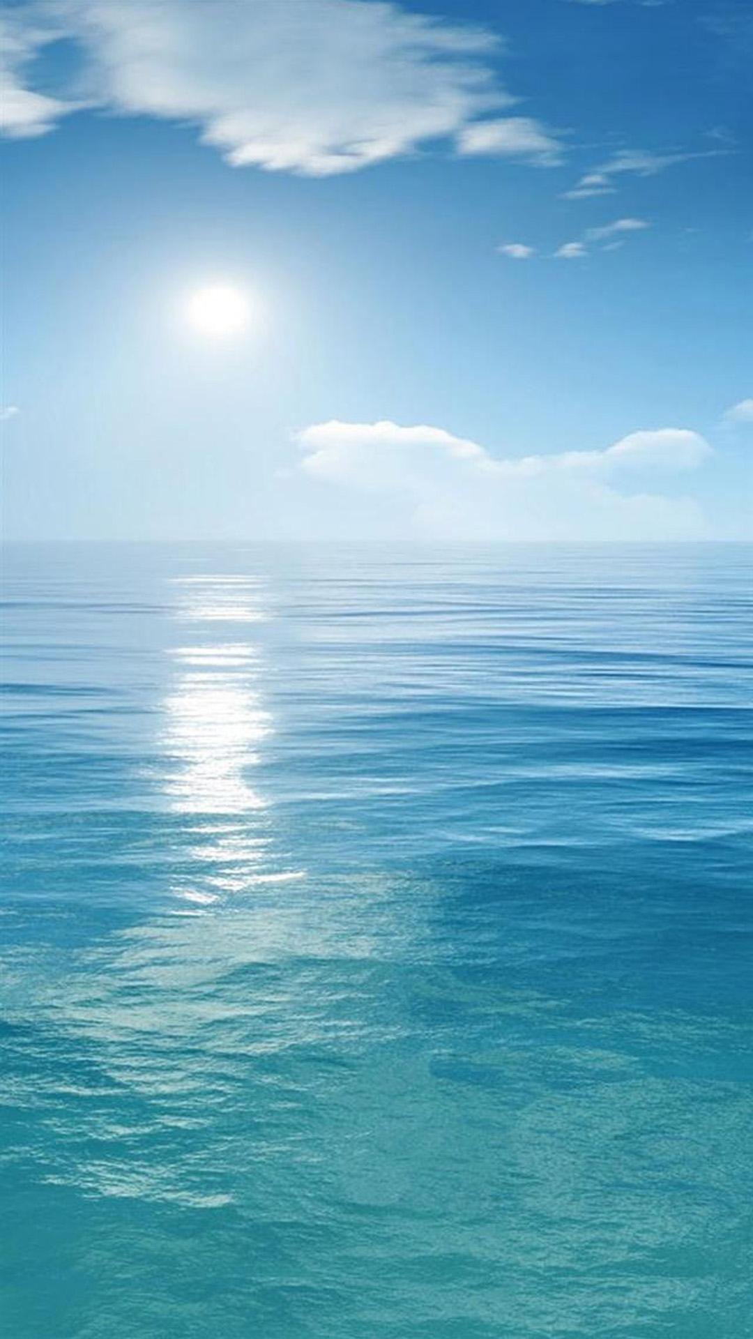 Sunny-Clear-Ocean-Skyline-Landscape-iPhone-6-wallpaper.