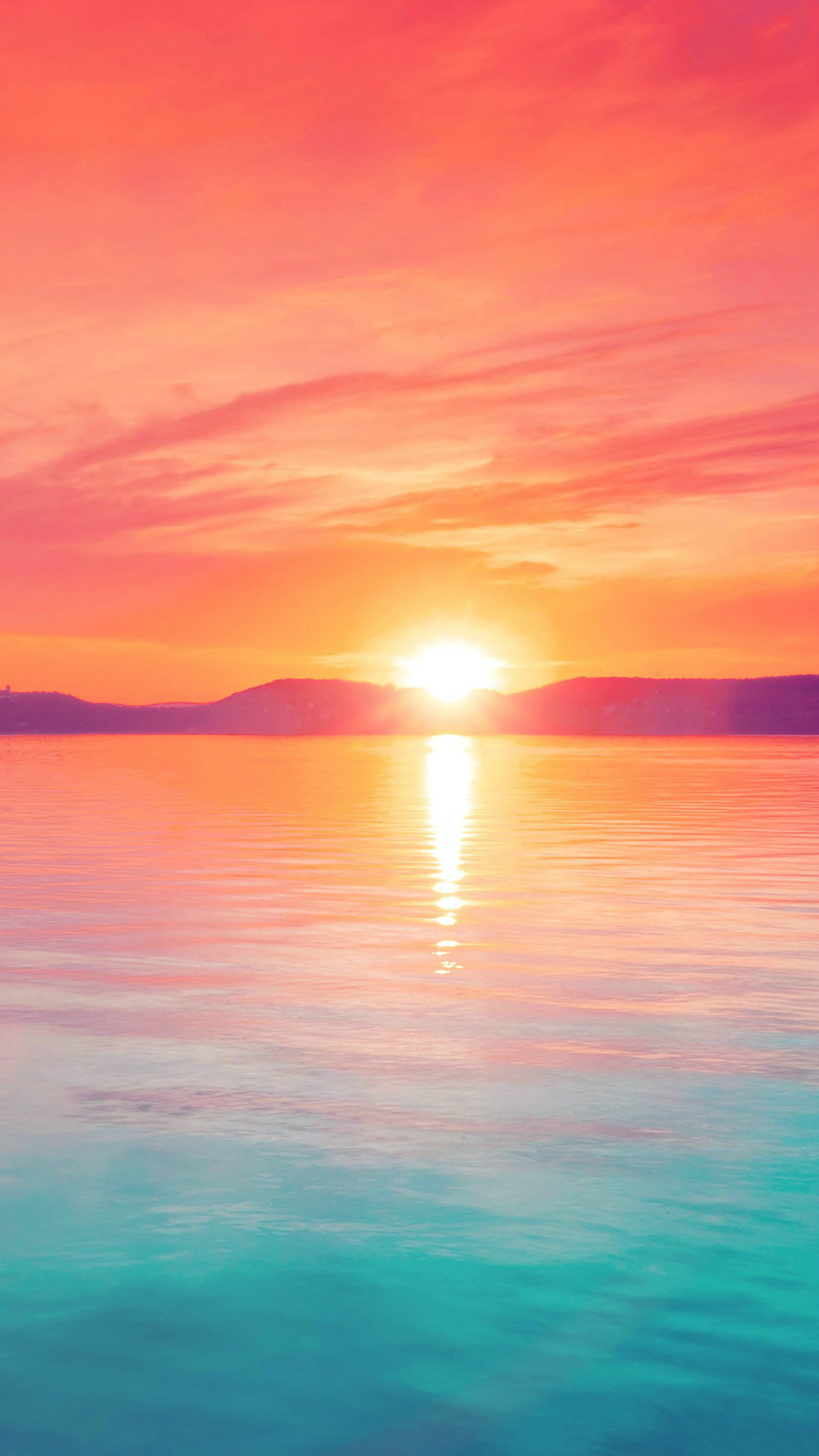 Sunset-Night-Lake-Water-Sky-Red-Flare-iPhone-6-wallpaper.