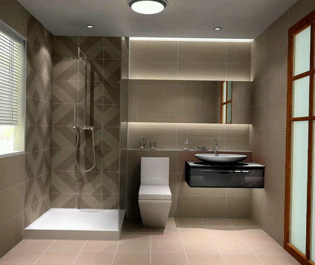 25 stylish modern bathroom designs godfather style for Small bedroom with bathroom design