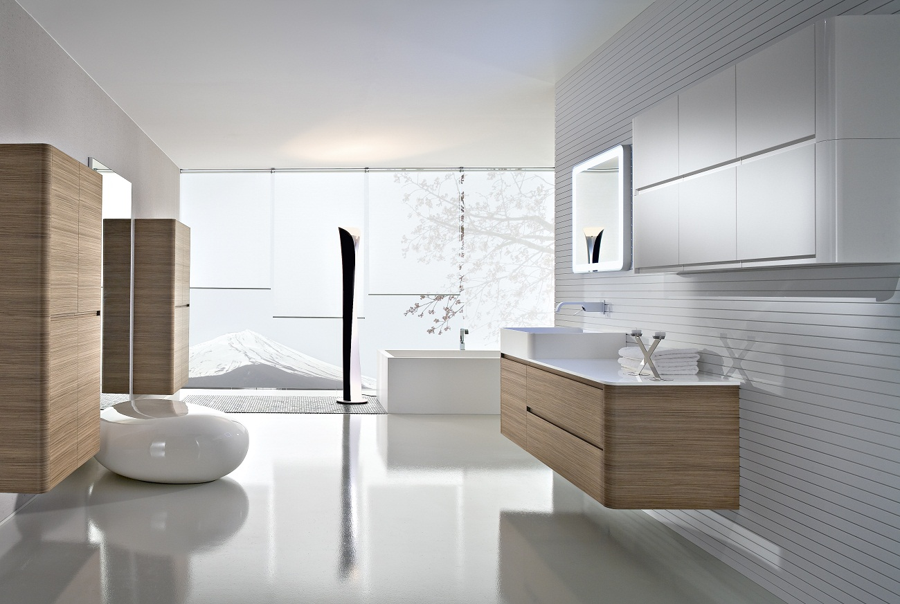 25 stylish modern bathroom designs godfather style for Bathroom n toilet design