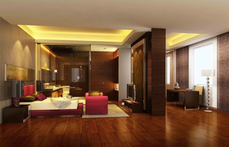 modern-romantic-bedroom-with-laminate-wood-flooring-ideas-