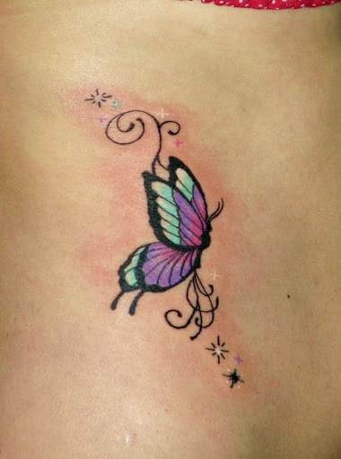 42 colorful butterfly tattoo ideas godfather style for Butterfly tattoo wrist designs