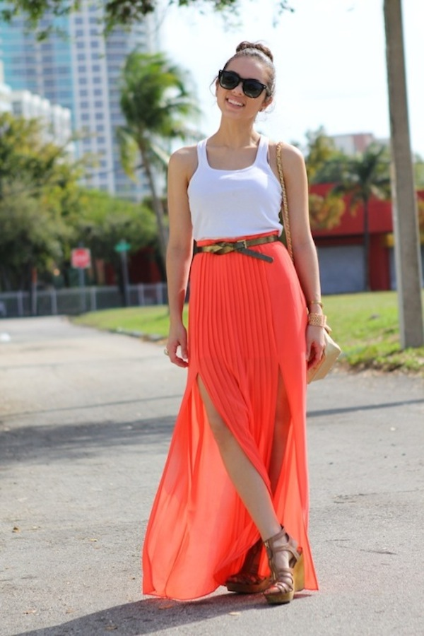 tangerine-pleated-skirt.