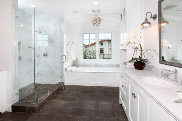25 traditional bathroom designs to give royal look for All white bathrooms ideas