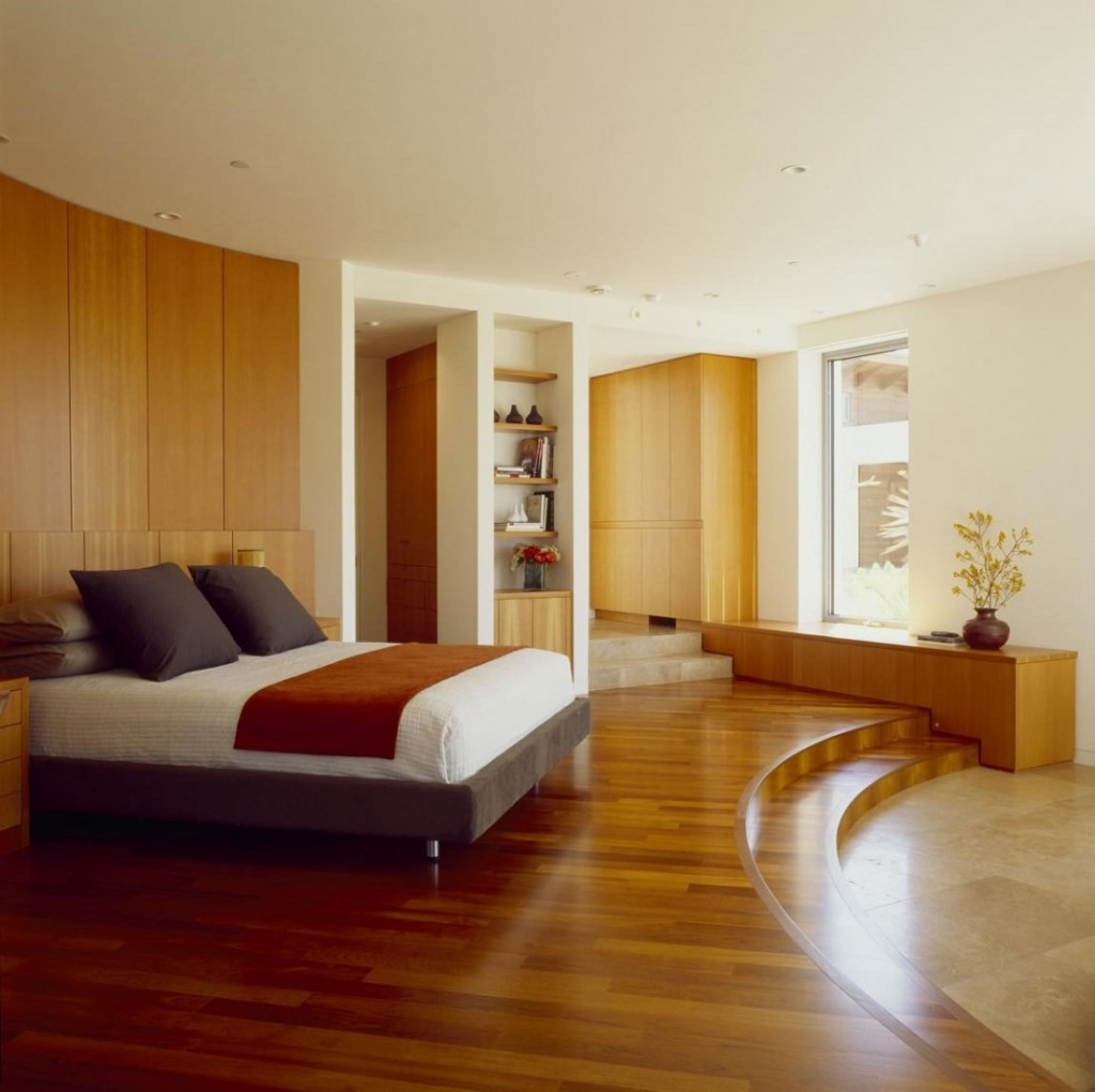 33 rustic wooden floor bedroom design inspirations for Best carpet for bedrooms